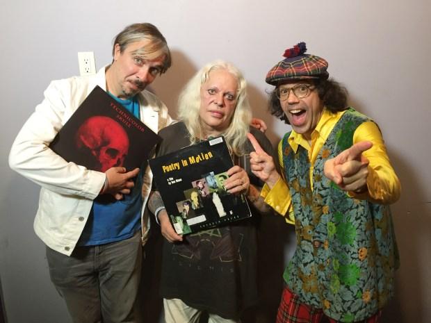 Edley Odowd, Genesis P-Orridge of Psychic TV, Nardwuar ! The Venue, Vancouver, BC Canada!