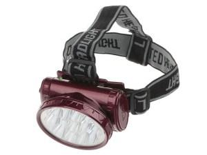 Налобный фонарик на аккумуляторах (13 диодов)