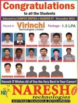 Virinchi Technologies Placed Naresh IT Students