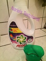 *Werbung* Produkttest Ariel Flüssigwaschmittel mit Fleck-weg Kappe 3