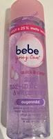 Werbung: bebe young Care quick & clean Augen Make-up Entferner & Wimpernpflege 2