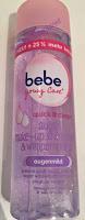 Werbung: bebe young Care quick & clean Augen Make-up Entferner & Wimpernpflege 1