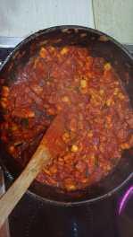 Vermischen und leicht aufkochen