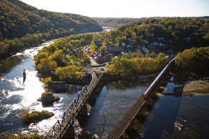 Images for travel story on Harper's Ferry, West Virginia by Sydney Trent. Harper's Ferry. WV from Maryland, Heights.