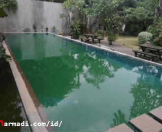 Pengendapan kotoran kolam renang