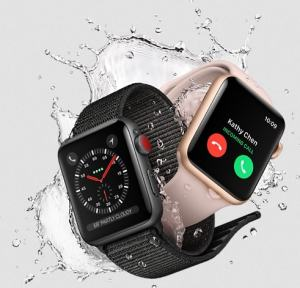 Apple Watch Series 3; water resistance