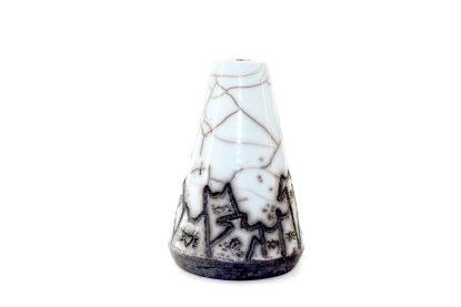 Namizna vaza raku izdelek z motivi muckov