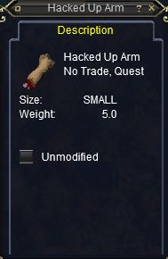 hacked arm