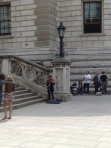 Fiddling at The Treasury
