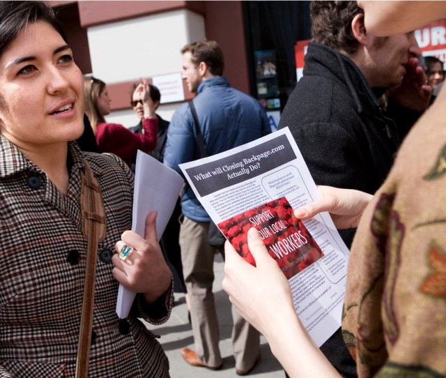 During A Protest To Shut Down Backpage Kate Dadamo A Community Organizer