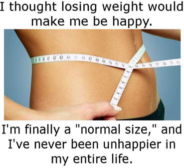 """""""Я думала, что стану счастливой, когда похудею. И вот, наконец, я """"нормального размера"""", но я никогда не была несчастнее, чем сейчас""""."""