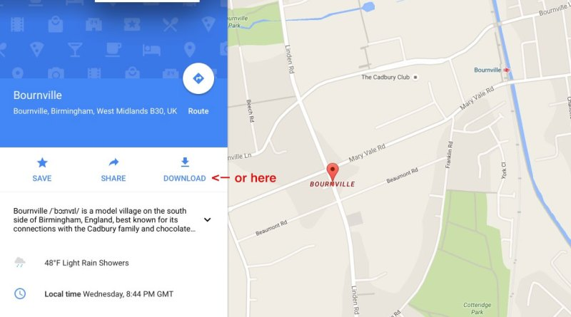 Downloading a Google map – Narrowboating for Beginners on