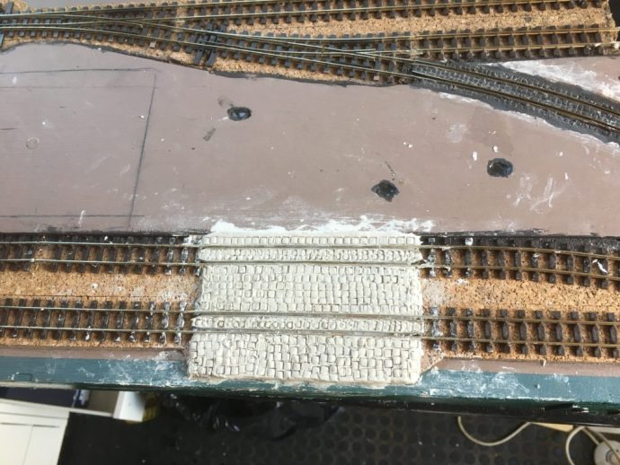 Cobblestone freight crossing