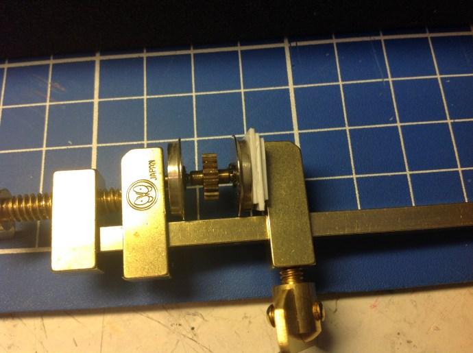 Using Hatekane clamps to regauge the wheels