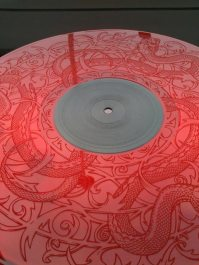 Red Vinyl with etching