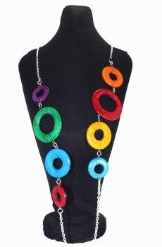 Collar circulos de colores en busto