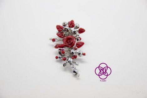 Broche Filigrana Rosas y cristal