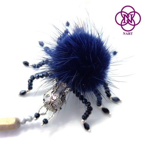 Collar araña azul detalle 1