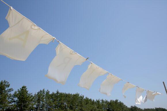 干している洗濯物
