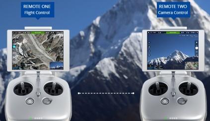 ドローンの操作とカメラ操作を別々にコントロール可能!