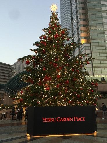 ガーデンプレイスにあるクリスマスツリー