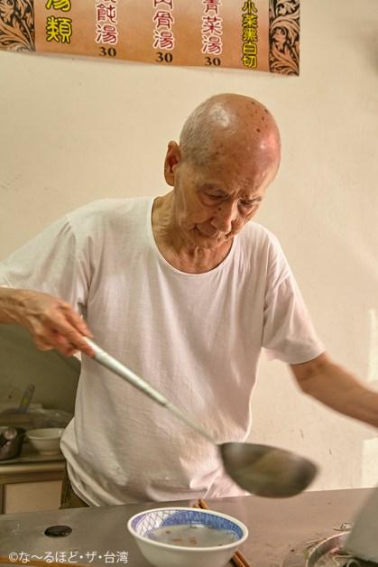 88歳のオーナーは今でも毎日店に立つ。