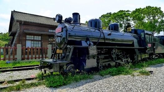 5.当時の蒸気機関車も静態保存されている。