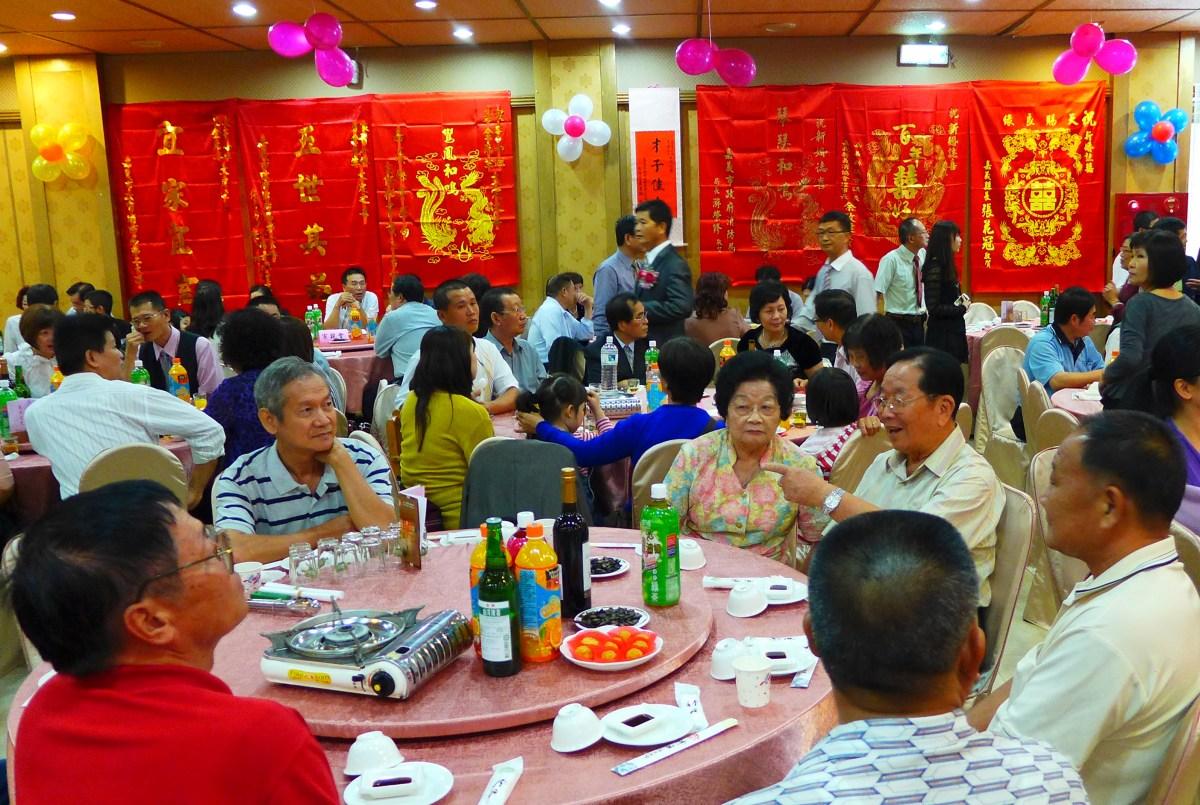 台湾の結婚式の披露宴といえば……。