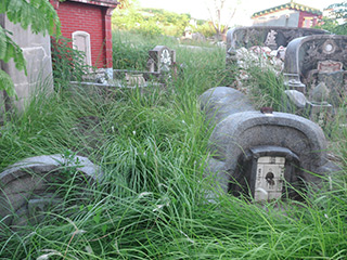 安平にある明末から昭和まで使われた墓地