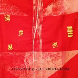 Shibori Wool Delaine with Embroidey using Plastic