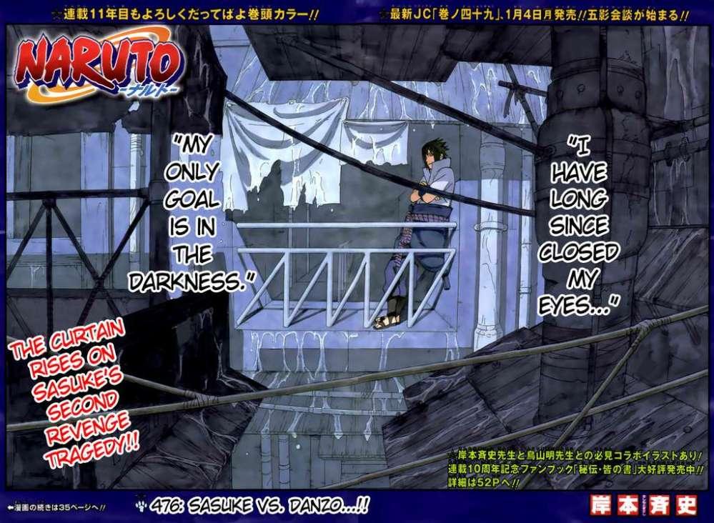 Chapter 476 – Sasuke vs Danzo (1/6)