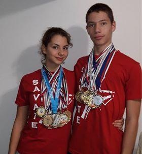 Ponos Novog Sada: Brat i sestra nižu uspehe u savate boksu 1