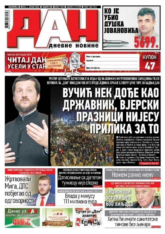 EPISKOPSKI SAVET PORUČIO VUČIĆU: ''Nisi dobrodošao u Crnu Goru, ovo nije tvoja borba'' (FOTO) 1