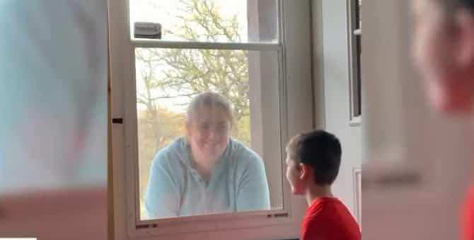 DIRLJIVO: Video majke koja je posetila sina (6) za vreme epidemije virusa 1