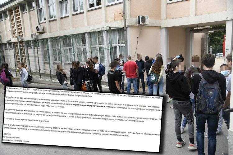 DNO DNA: Poslušni direktori škola pozvali decu na Vučićevu paradu da gledaju žvalavog kako se krevelji! 5