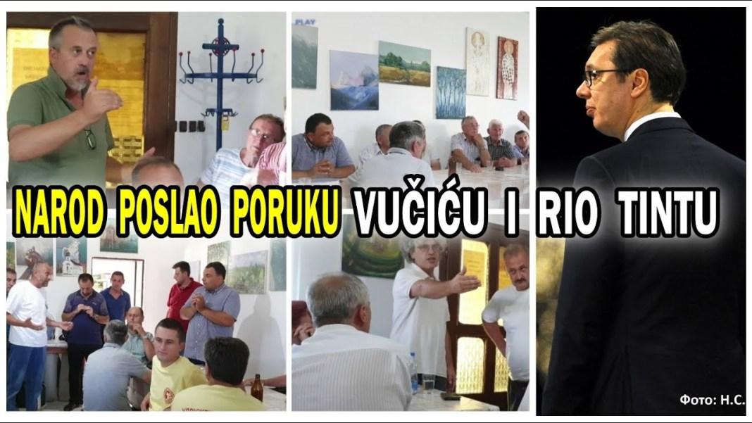 NAROD PORUČIO VUČIĆU I RIO TINTU: Pašće krv i nečija glava, ne damo zemlju strancima! 1