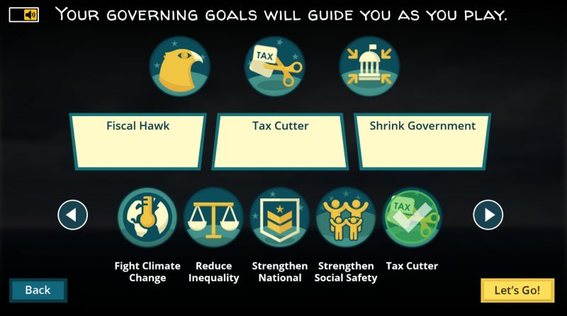 Fiscal ship learning games goals