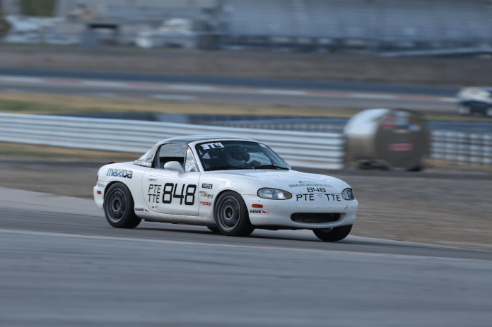 Jason Kohler showed his speed in TTE with 2:16.360, a time he set in an NB Mazda Miata. It's noteworthy that his time was faster than all but one of the TTD times. William Chen took home second place with a 2:17.145 in his Mazda Miata. Walter Carlos brought home third with a 2:27.047 in his first-generation Mazda RX-7.