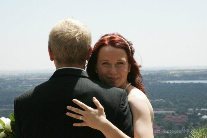 The couple met at the Pikes Peak Hill Climb in 2011 and were married June 26, 2012.