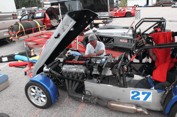 These cars are quick with four cylinder engines. The addition of an aluminum LS V8 made this HPDE car even faster.