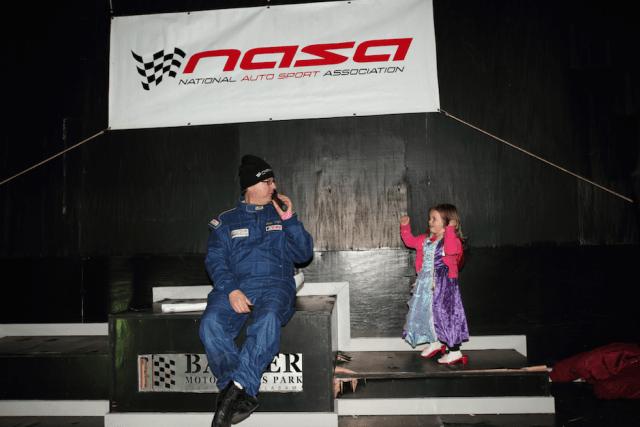 NASA Mid South Regional Director Shawn Taylor kicks off the awards ceremony Saturday night. He had a helper.