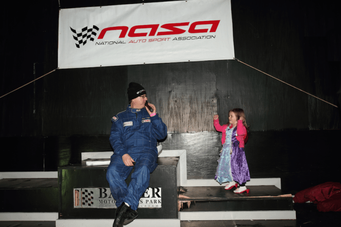 NASA Mid South Regional Director Shawn Taylor kicks off the awards ceremony Saturday night. He had a helper.