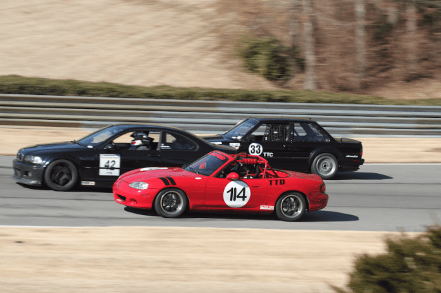 Nearly 50 cars took to the track in the Time Trial classes at Barber.