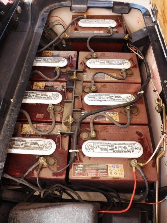 "This ""free"" golf cart had seven deep-cycle marine batteries in it — all of them dead — which set our team back about $1,500."