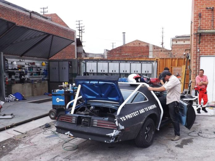 """When the cameras weren't paying attention, it was crew members from Dennis McCarthy's shop """"Vehicle FX"""" doing the real fabrication on the cars."""