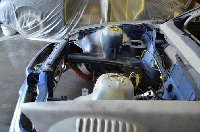 The car also had all the sound-deadening material removed and was fully seam welded for added structural integrity.