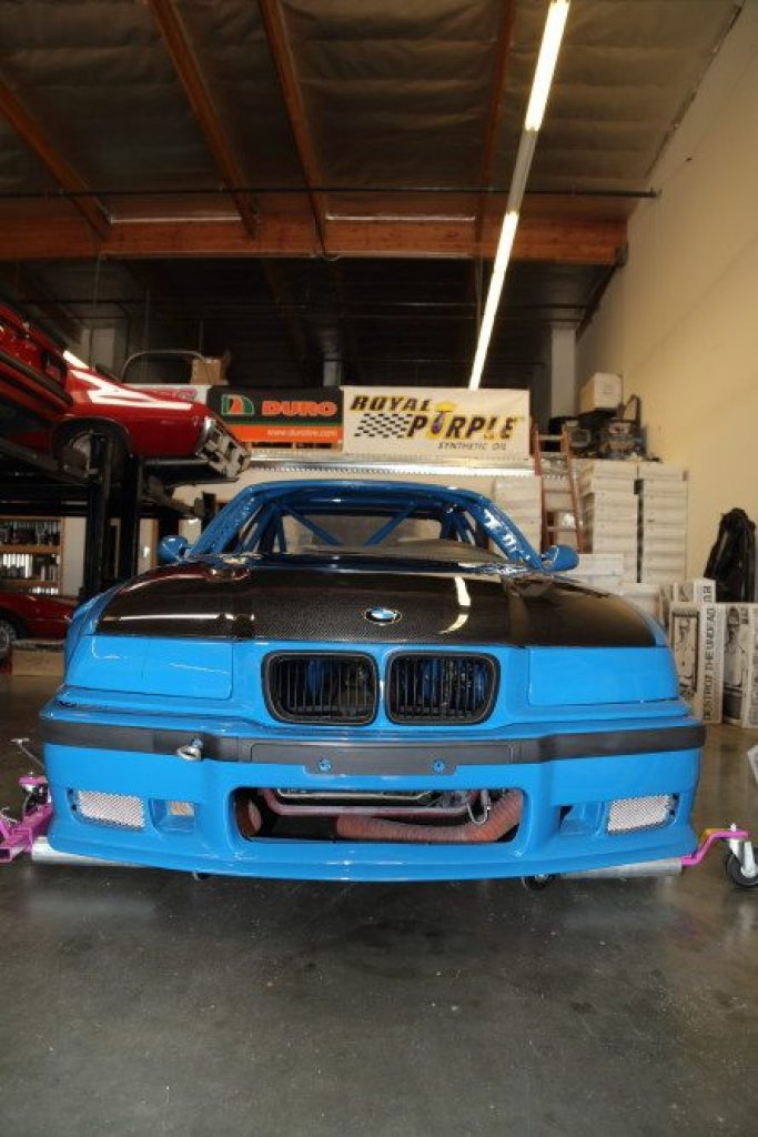 Headlights were removed but the car will use its factory brake cooling ducts.