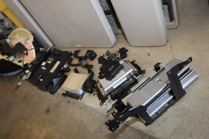 As teardown continues, the electronic modules continue to pile up.