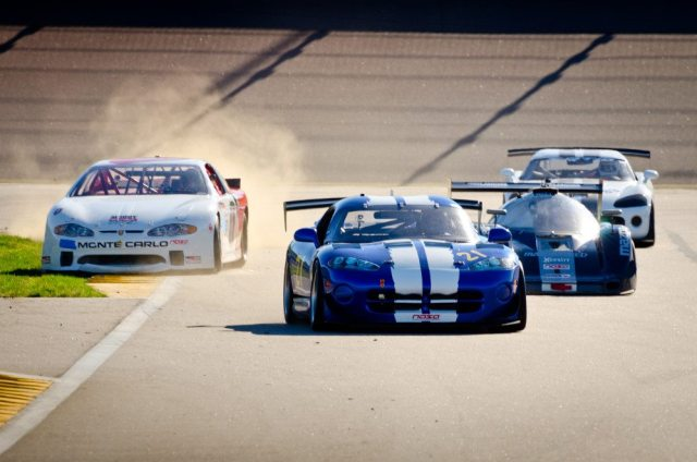 From left: Keith Moody, Mark Kirby, Sam Mangiamelli and Matthew Miller battled in ST1 at Kansas Speedway in September. Miller won on Saturday, followed by Kirby and Mangiamelli. On Sunday, Kirby won, followed by Moody and Miller.