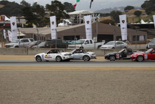 After the restart, the field was well mixed. As Croiset was trying to get past NASA NorCal's Tommy Lo, Croiset was bumped from behind by a Skip Barber car, which nudged Croiset into Lo, who went four at the exit of Turn 3.
